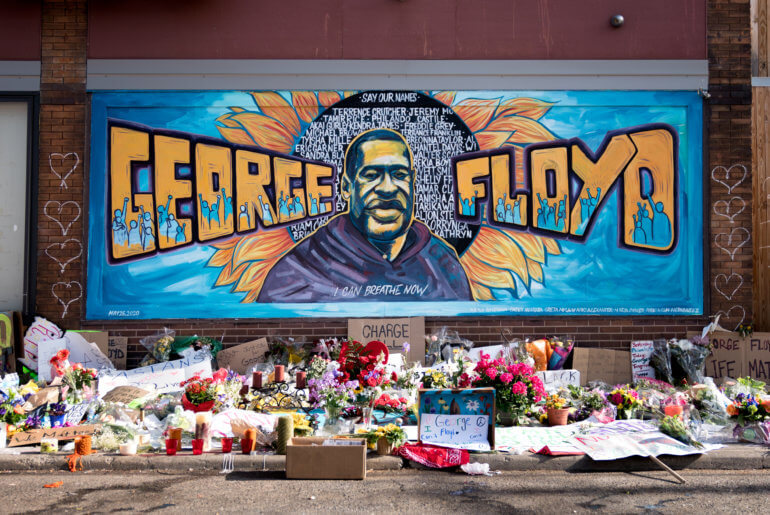 A mural of George Floyd outside Cup Foods on Chicago Ave. and E. 38th St., in Minneapolis, Minnesota.(Photo: Lorie Shaull/Flickr)