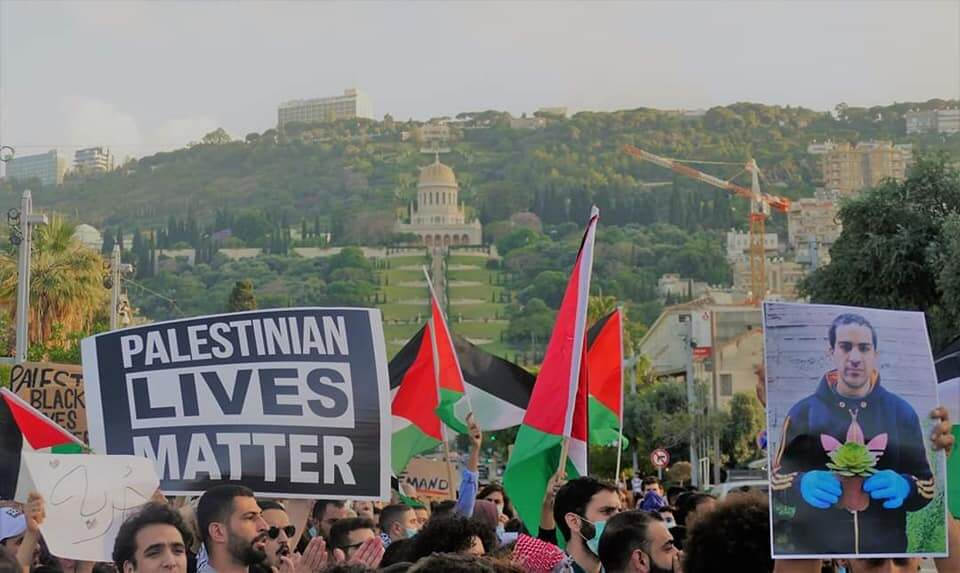 March for Eyad Al-Hallaq in solidarity with Black Lives Matter in Haifa, June 2, 2020 (Photo: Rabeea Eid)