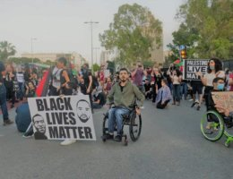 March for Eyad Al-Hallaq in solidarity with Black Lives Matter in Haifa, June 2, 2020 (Photo: Suhair Badarni)