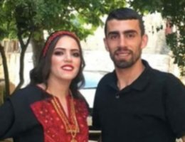 Ahmed Erekat and his sister Iman before her wedding (Photo: Twitter)