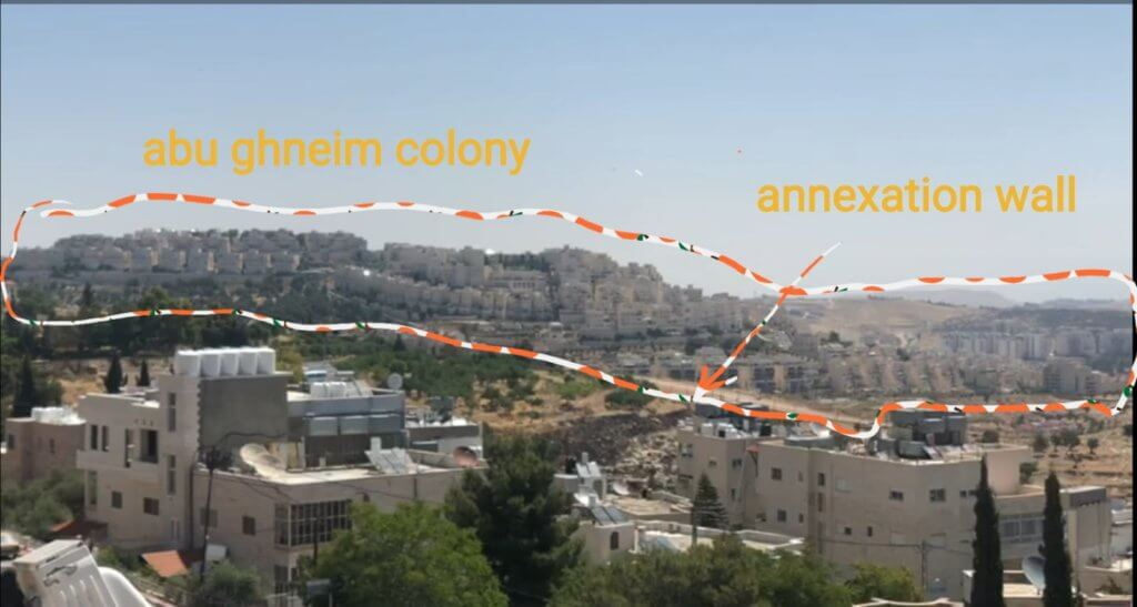 Evidence of the Israeli occupation that were not shown in the Trump Administration's photo of Bethlehem.