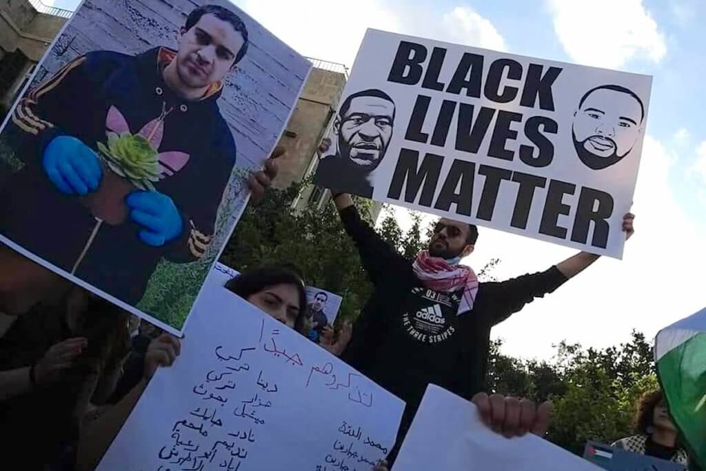 March for Eyad Al-Hallaq in solidarity with Black Lives Matter in Haifa, June 2, 2020 (Photo: Suhair Badarni)