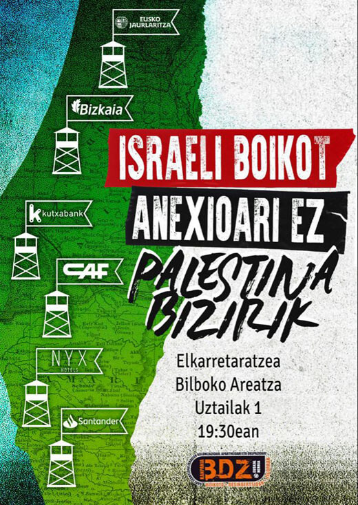 A poster published by Samidoun in the Basque Autonomous Community (Image via Palestine Poster Project Archives)