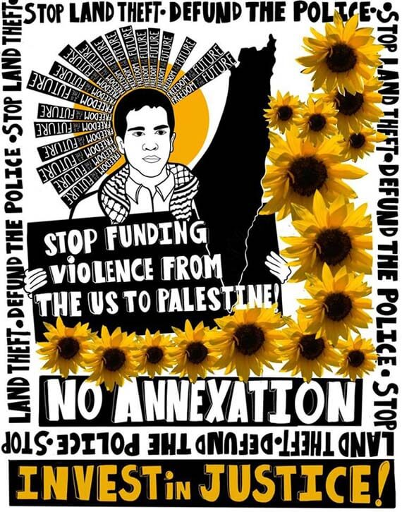 Poster created by the US Campaign for Palestinian Rights (Image via Palestine Poster Project Archives)