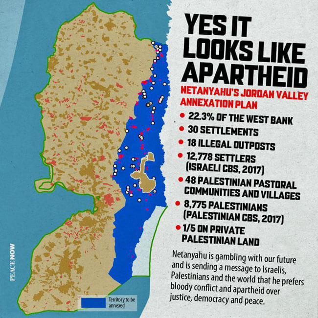 Poster created by Peace Now (Israel) (Image via Palestine Poster Project Archives)