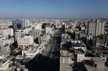 A general view of Gaza City during a 48 hour lockdown imposed following the discovery of the first coronavirus cases in the Gaza Strip on August 25, 2020. (Photo: Mahmoud Ajjour/ APA Images)
