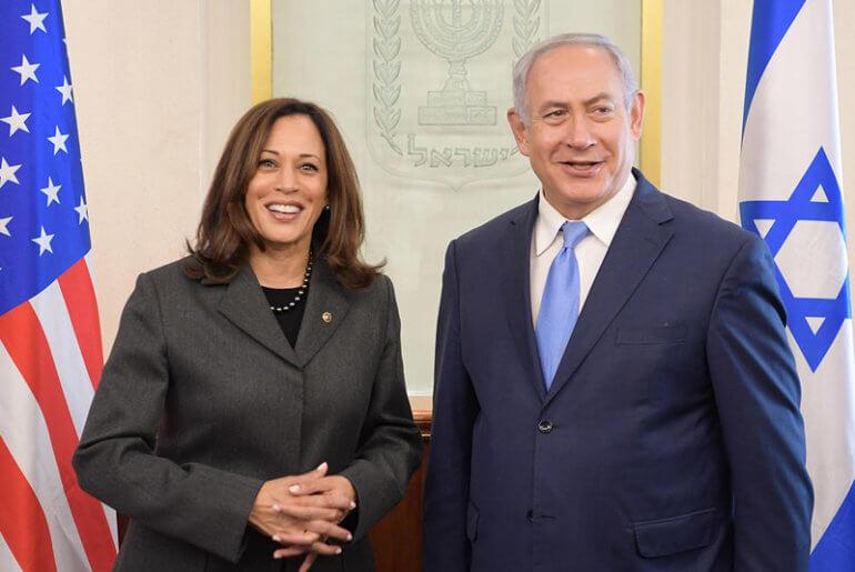 Prime Minister Benjamin Netanyahu meets with Senator Kamala Harris in Israel, November 20, 2017. (Photo: Amos Ben Gershom/GPO)