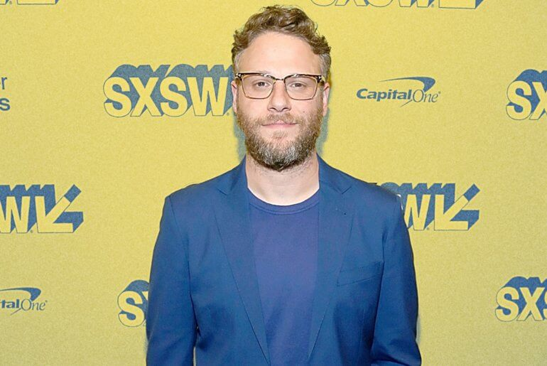 "Seth Rogen attends the premiere of the rom-com ""Long Shot"" at SXSW. (Photo: Getty Images)"