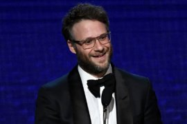 Seth Rogen speaking at The Beverly Hilton Hotel on November 8, 2019 in Beverly Hills, California. (Photo: Frazer Harrison/Getty Images)