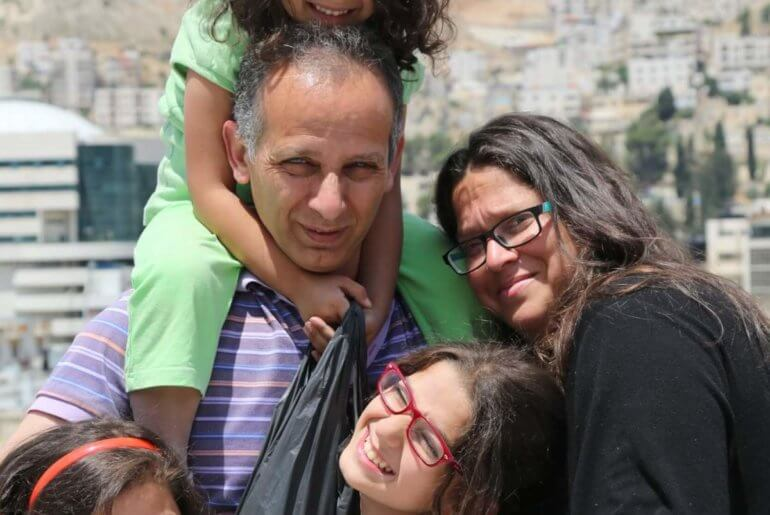 Neta Golan and her family in the West Bank. (Photo: Tamira Sawatzky)
