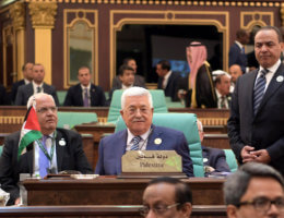 Palestinian President Mahmoud Abbas attends an Arab League summit in Mecca, Saudi Arabia in May 2019. (Photo: Thaer Ganaim/APA Images)