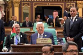 Palestinian President Mahmoud Abbas attends an Arab League summit in Mecca, Saudi Arabia in May 2019. (Photo: Thaer Ganaim/APA Images)