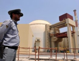 A handout image supplied by the IIPA (Iran International Photo Agency) shows a view of the reactor building at the Russian-built Bushehr nuclear power plant as the first fuel is loaded, on August 21, 2010 in Bushehr, southern Iran. (Photo: IIPA/Getty Images)