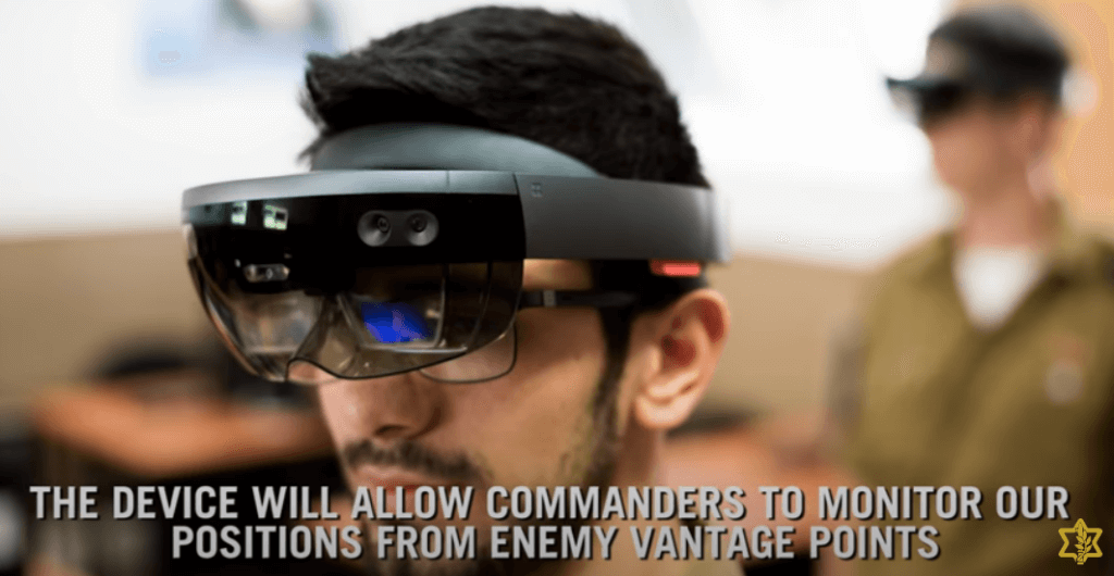 Screenshot from an IDF video describing the uses of Microsoft HoloLens.