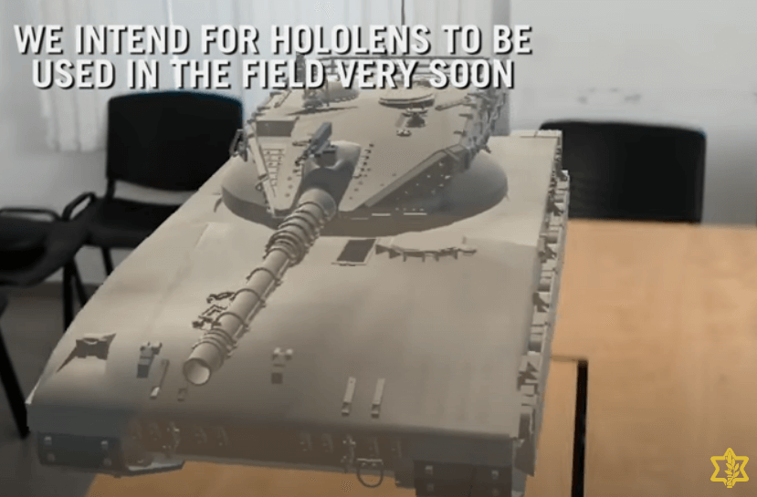 Another screenshot from a video describing the IDF's uses of Microsoft HoloLens.