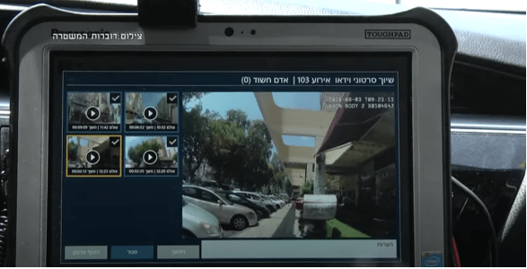 Israeli police monitoring the feed from a body camera made by Taser/Axon, a Microsoft partner.